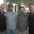 Stone Brewing's President Steve Wagner (far right) and COO Patrick Tiernan visit O'Connor Brewing