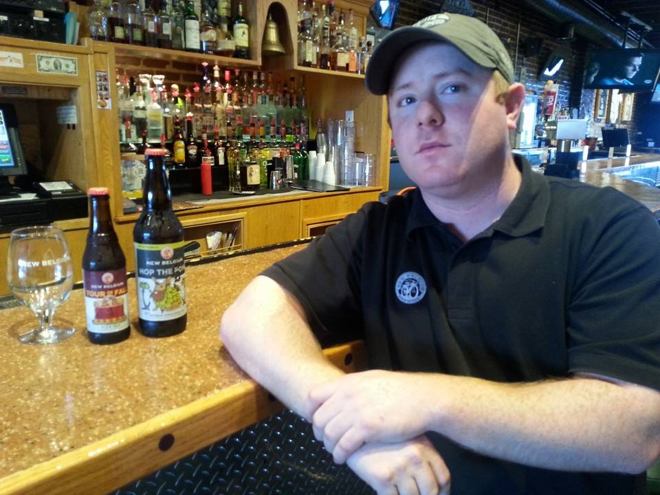New Belgium beer rep Geoff Rifkin is a visible, familiar and friendly face in the local restaurant/bar scene