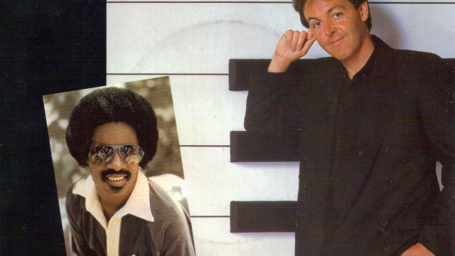 "Race relations in 1982 hit a positive pop cultural note with the Paul McCartney/Stevie Wonder collaboration ""Ebony & Ivory."""