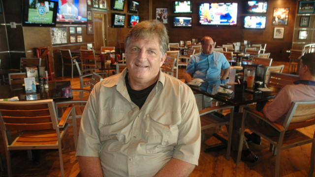 Former NFL great Bob Baumhower at his namesake restaurant in Orange Beach