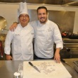 Westminster Canturbury Executive Chef Peter Tseng with Top Chef Fabio Viviani in the Westminster Canterbury kitchen prepping the gnocchi