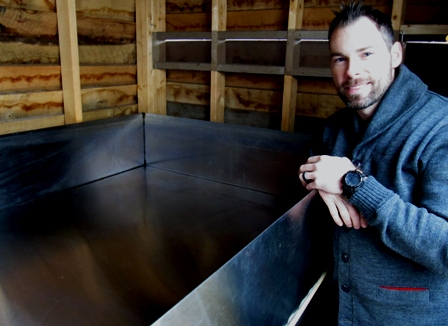 Justin MacDonald and the coolship