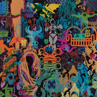 Ryan McGinness, Art History Is Not Linear (VMFA) 6, 2010, Acrylic on panels. Virginia Museum of Fine Arts, Richmond. National Endowment for the Arts Fund for American Art. © 2014 Ryan McGinness / Artists Rights Society (ARS), New York