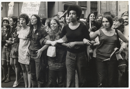 A scene from She's Beautiful When She's Angry of an August 1970 March.  Photo credit: Diana Davies