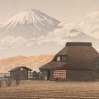 1.	Kawase Hasui Japanese, 1883–1957 Mt. Fuji from Narusawa, 1936 Color woodblock print on laid paper Gift of Momotaro Yanagida, Mayor of Moji, Japan, sister city of Norfolk
