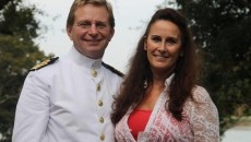 CAPT Maarten Lutje Schipholt  MSc, National Liaison Representative of The Netherlands to Supreme Allied Command Transformation in Norfolk, with his wife, Edith.