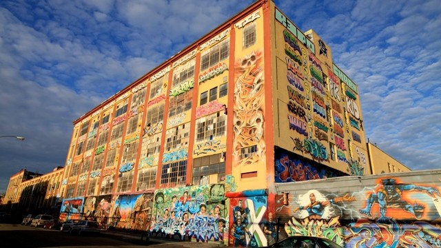 5 Pointz was a mural space in Queens, New York. Graffiti artists from all over world contributed to its exterior wall. The building was demolished in 2014.