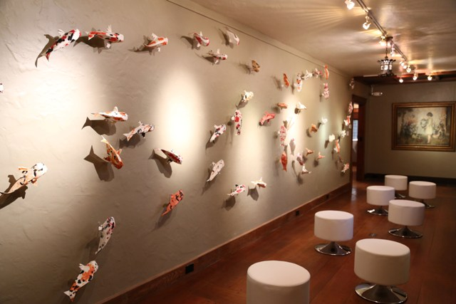 Origami Exhibit is Above the Fold