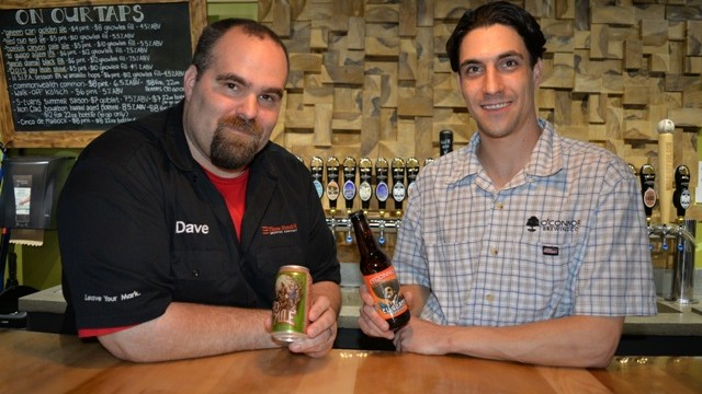 1.Three Notch'd Brewing Company's Dave Warwick and Bob Sweeney of O'Connor Brewing
