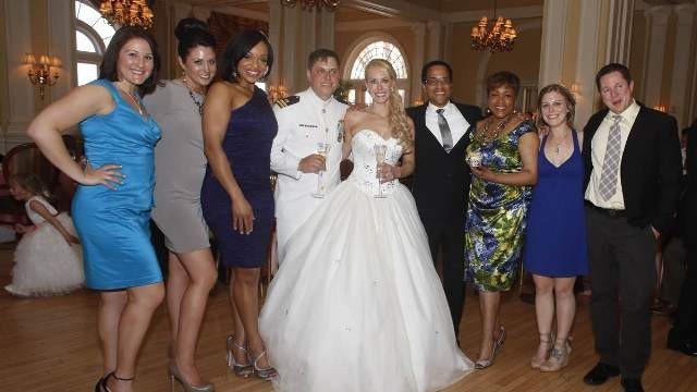 Juliet Bickford on her wedding day with some of her WTKR friends.  Photo by Keith Cephus, courtesy of Juliet Bickford
