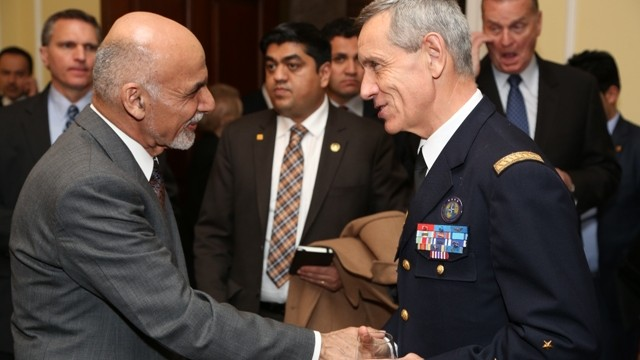SACT shakes hands with the President of Afghanistan (NATO Transformation Seminar, March 2015)