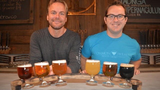 (Commonwealth Brewing Company's Jeramy Biggie and Greg Fleehart)
