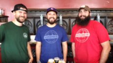 (Left to right) Oozlefinch brew team of Austin Shawinsky, Russ Tinsley, and Ben Baumann