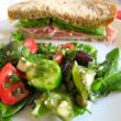 Herb salad and sandwich (Courtesy of The Bee & The Biscuit)