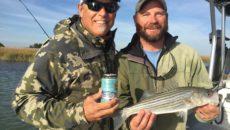 (Steve Crandall, CEO, Devils Backbone Brewing Company with Bart Jaeger, Chesapeake Bay Foundation Discovery Program Manager. Photo courtesy Chesapeake Bay Foundation)