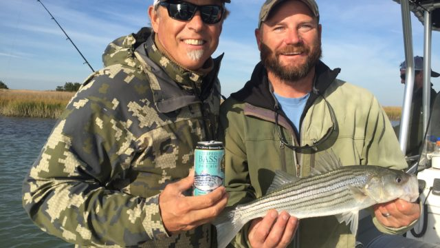 (Steve Crandall, CEO, Devils Backbone Brewing Company with Bart Jaeger, Chesapeake Bay Foundation Discovery Program Manager. Photo courtesy Chesapeake Bay Foundation)