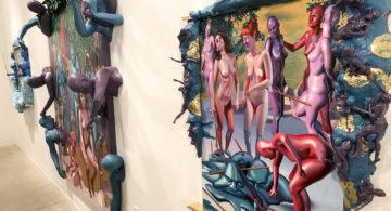 ART: Stinely Dazzles with Gilded Splinters